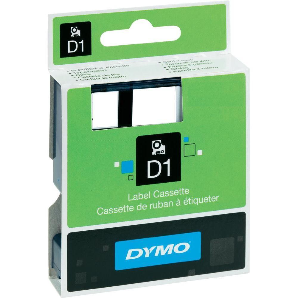 DYMO D1 Etikettape 19 mm Svart/Röd