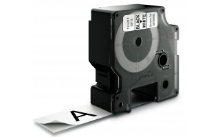 DYMO D1 Etikettape svart på vit 24mm x 7m