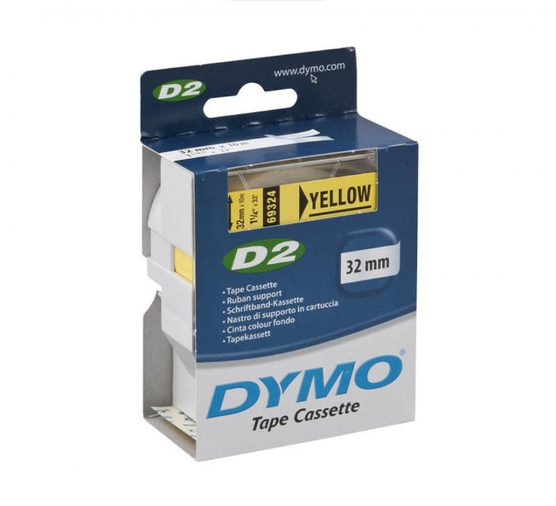 DYMO D2 Tape 32 mm Yellow